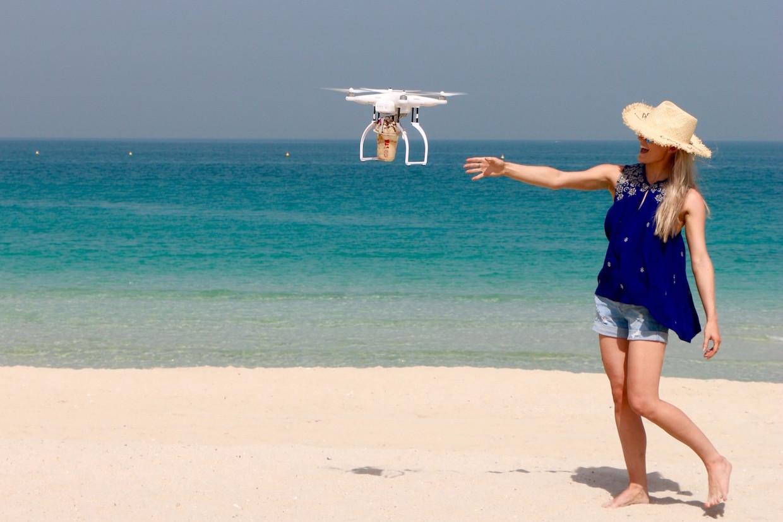 costa coffee drone