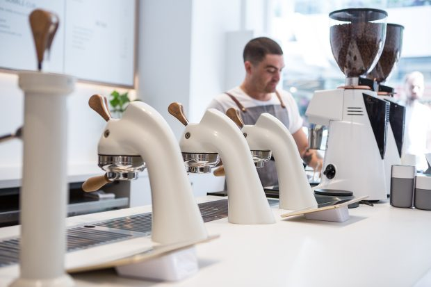 Design-Award-Winning Industry Beans Opens Stark White Second Shop in Melbourne