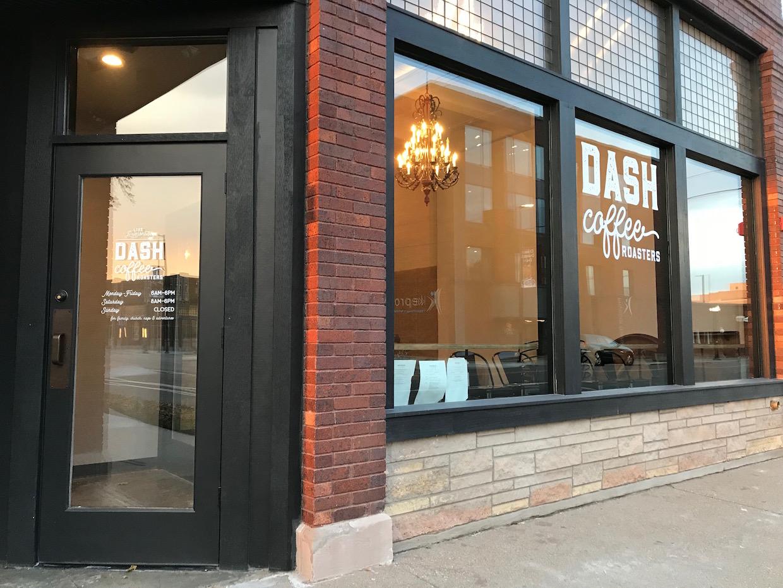 dash coffee roasters cedar rapids Iowa