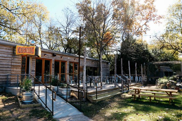 Craft Beverages Combine in Harmonious Landscape at Austin's Cosmic Coffee + Beer Garden