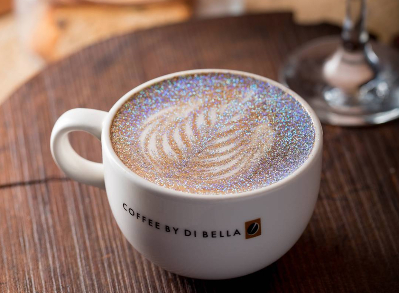 glitter coffee