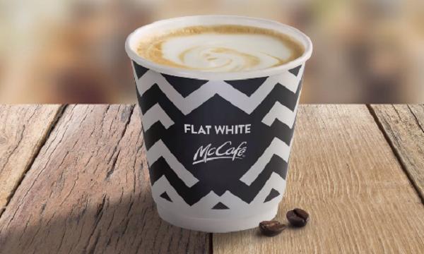 mcdonalds flat white