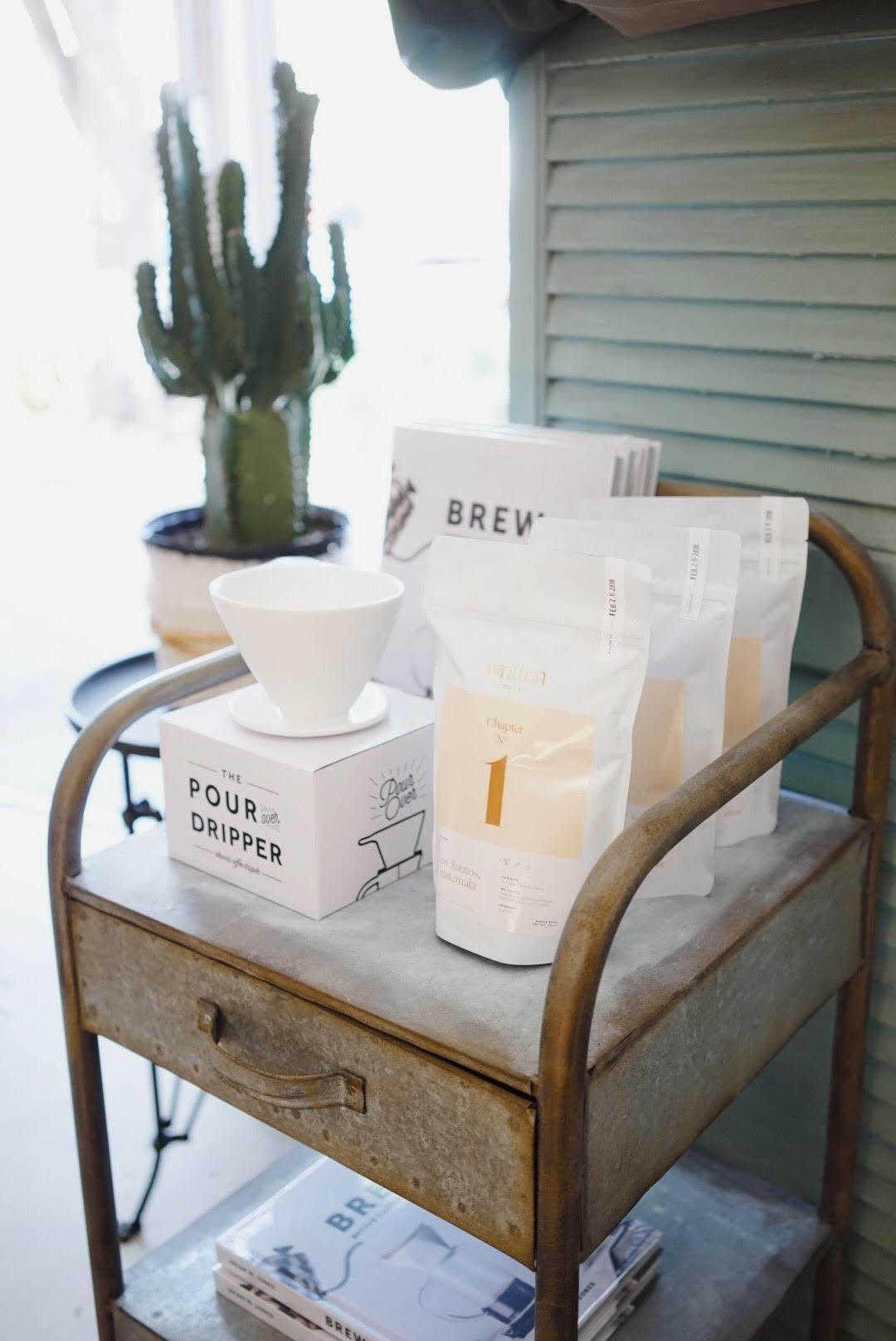 written coffee packaged bags