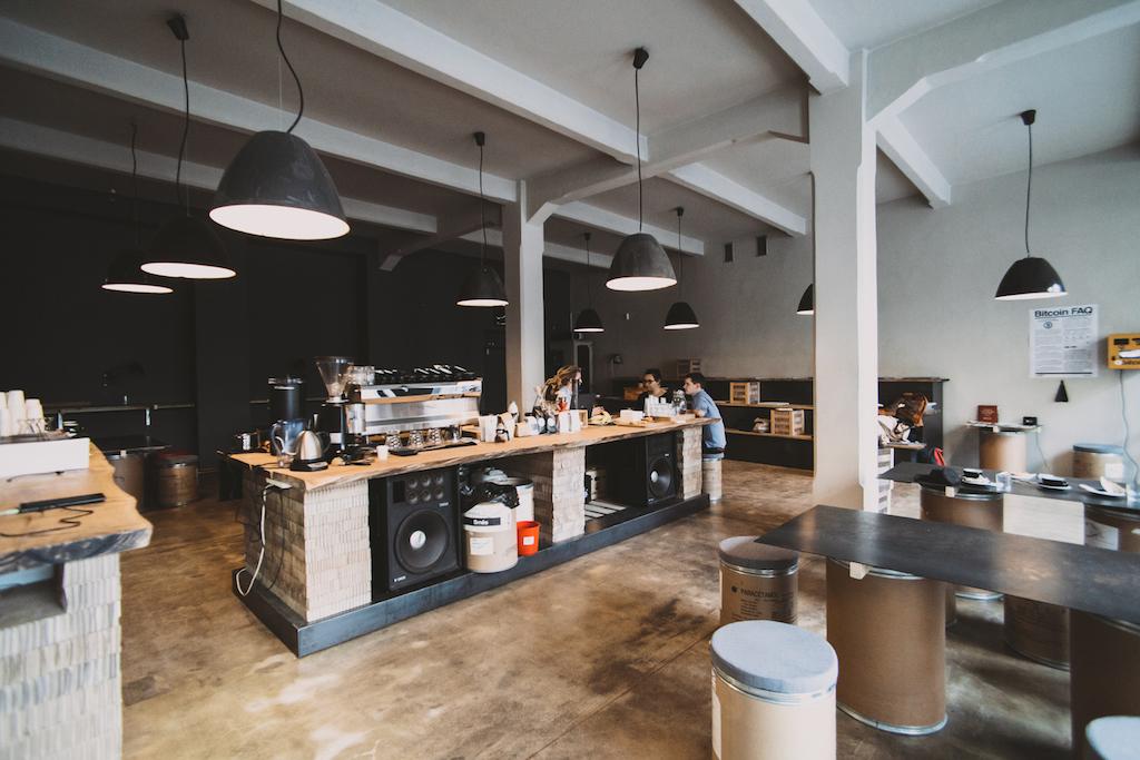 bitcoin coffee cafe