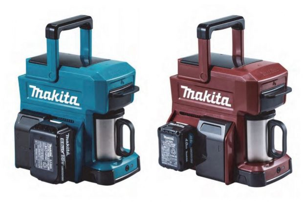 Makita power tool coffee maker