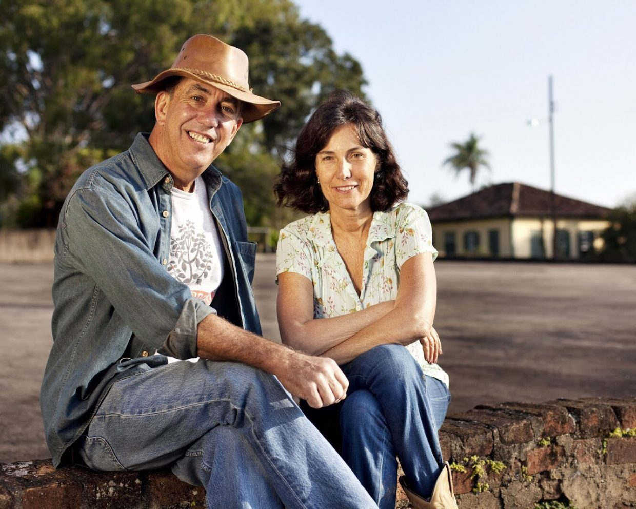 Marcos Croce and Silvia Barretto at Fazenda Amiental Fortaleza.