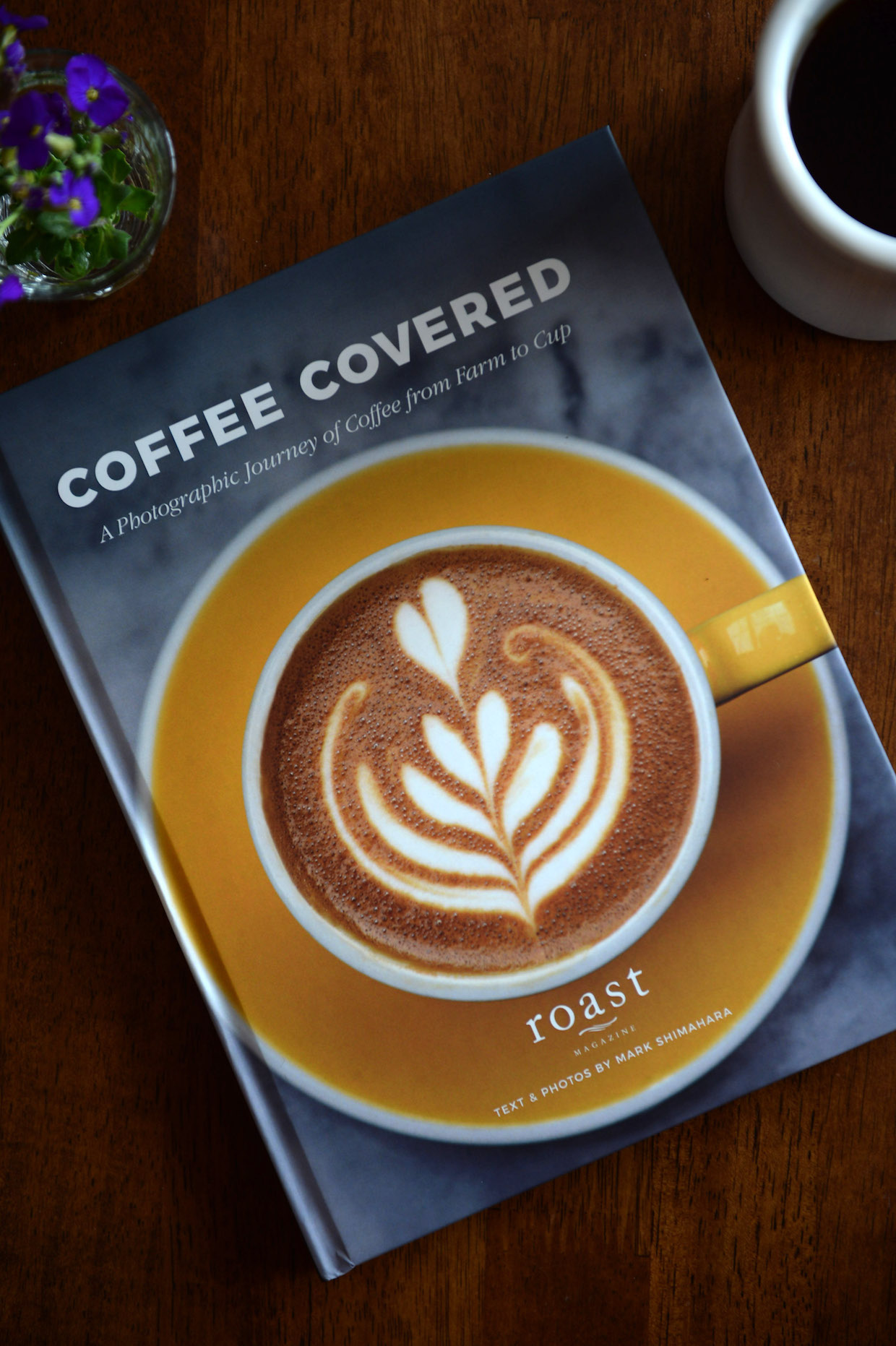 coffee covered book roast magazine