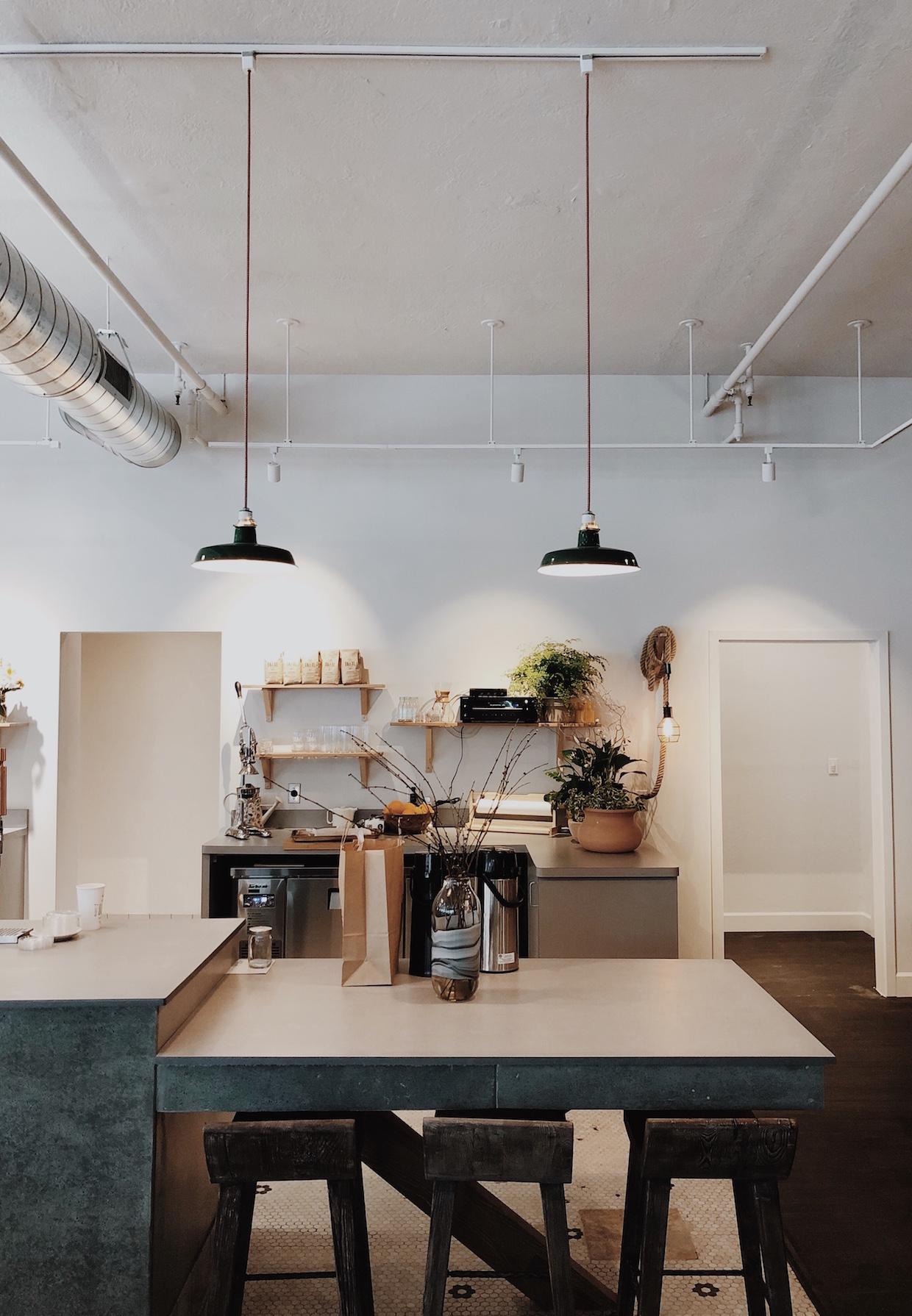 Trail roasters inside coffee bar