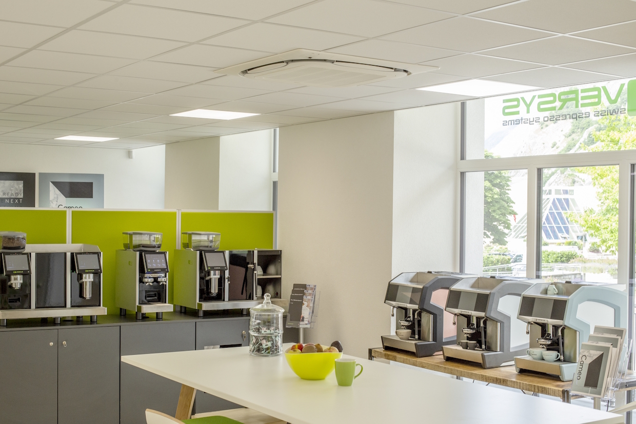 eversys espresso switzerland machines showroom