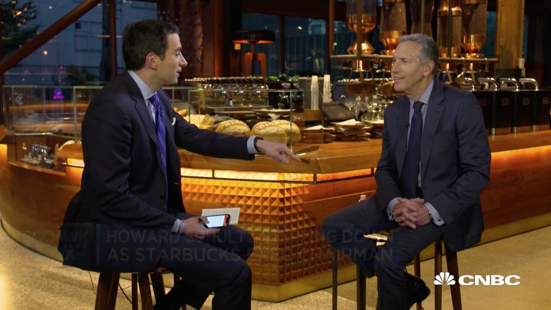 Howard Schultz starbucks president