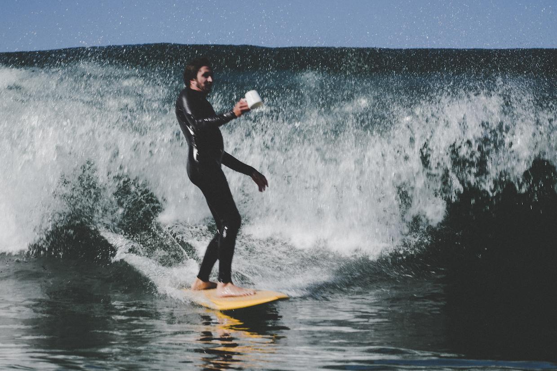 surfing coffee