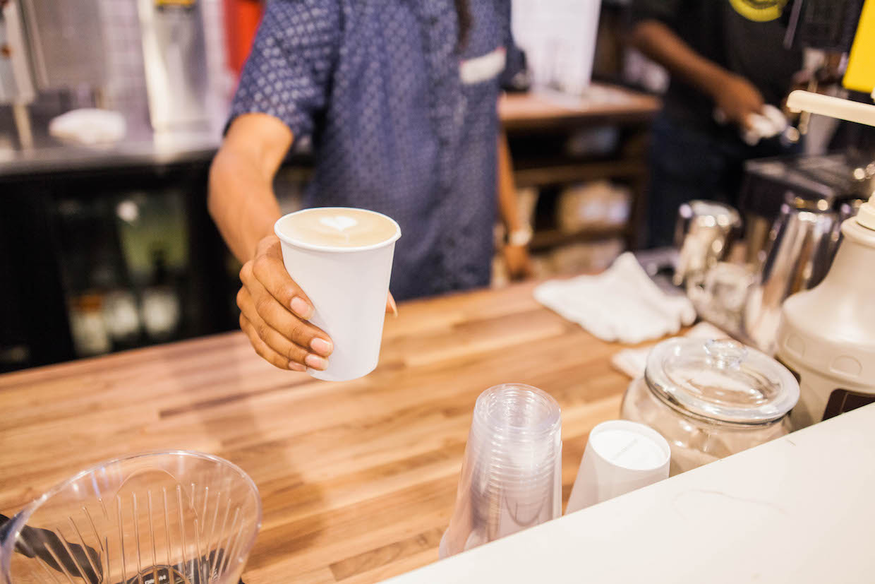 Enderly Coffee Charlotte NC latte cup
