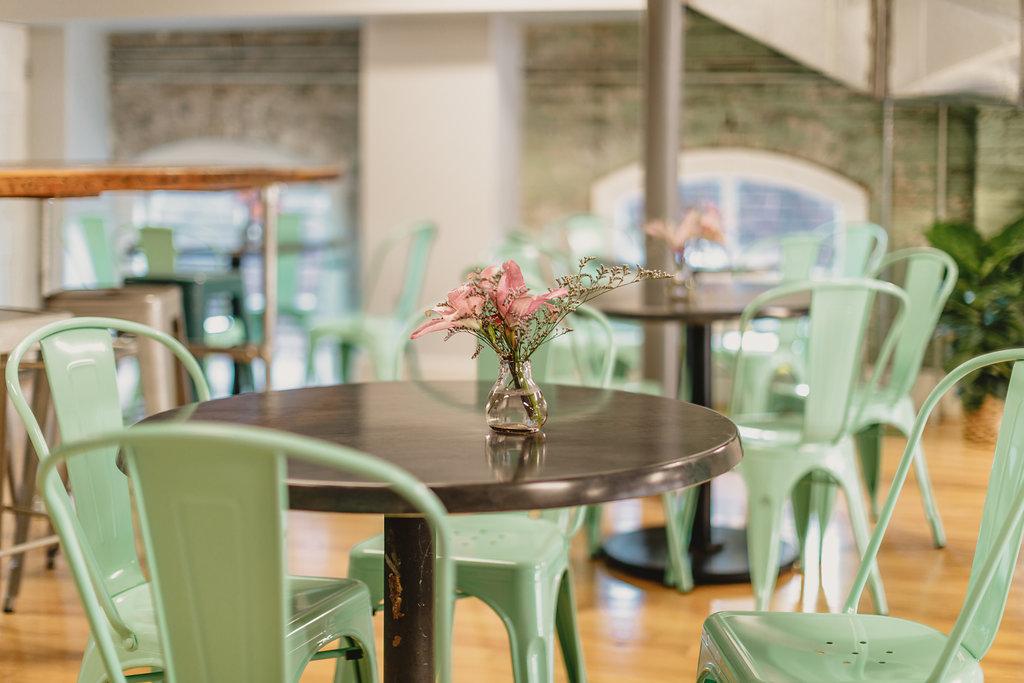 coffee seating area