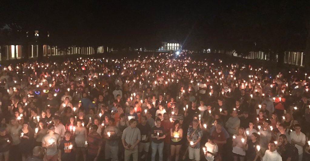 2017 charlottesville candlelight vigil