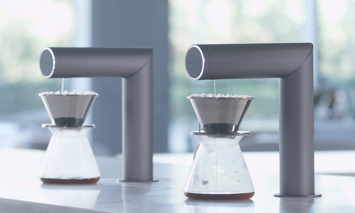 Bubble Lab Launching Drop Milk Dispenser and Drip Pourover ArmDaily