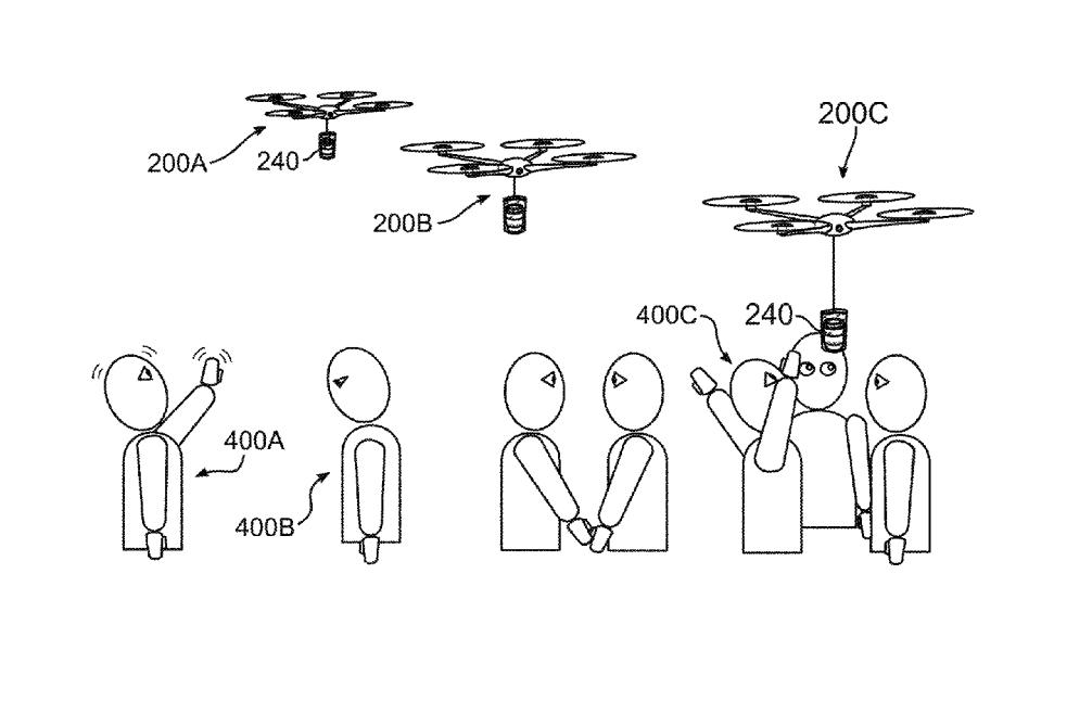 drones delivering coffee