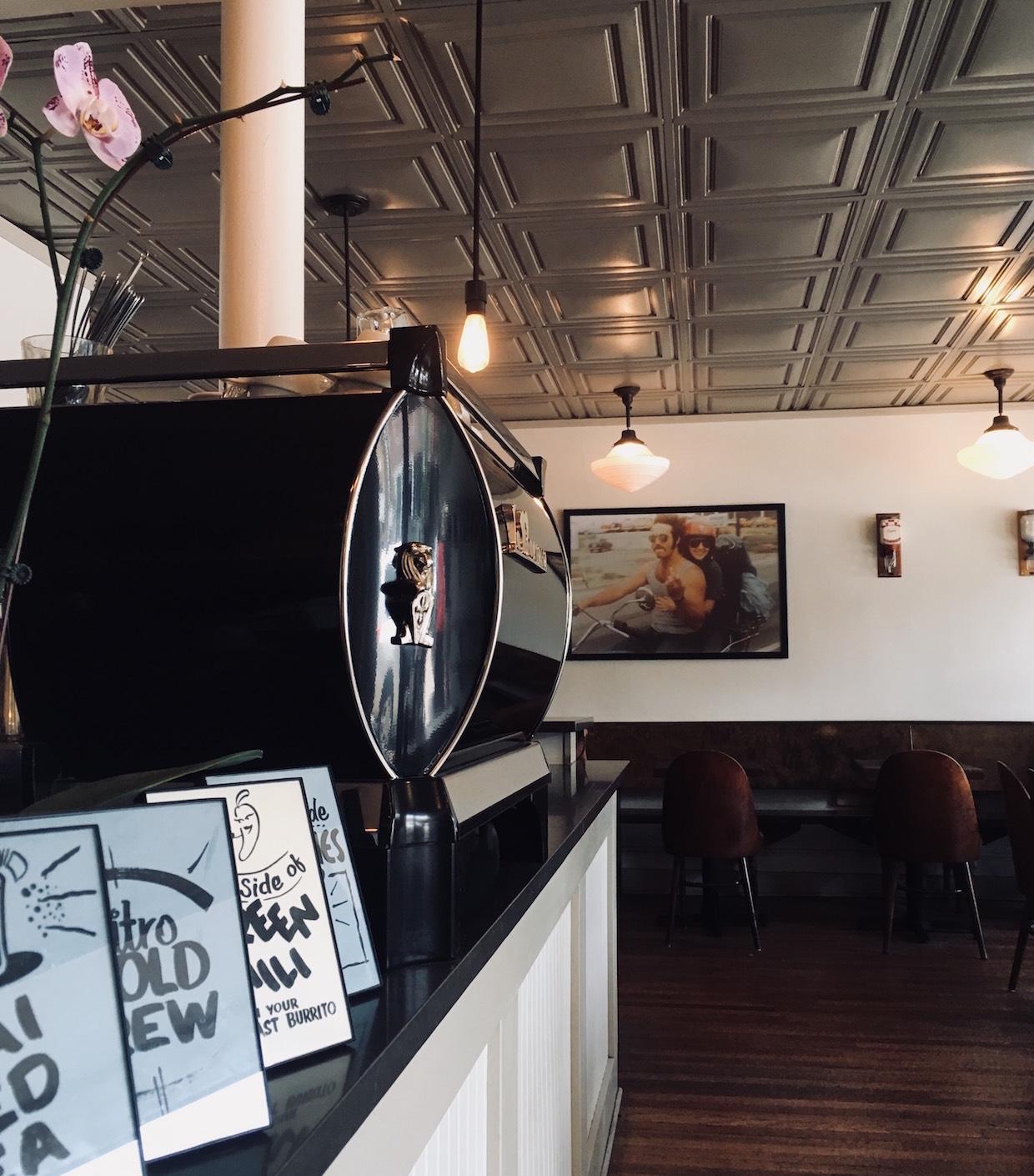 La Marzocco espresso at Downpours coffee Denver