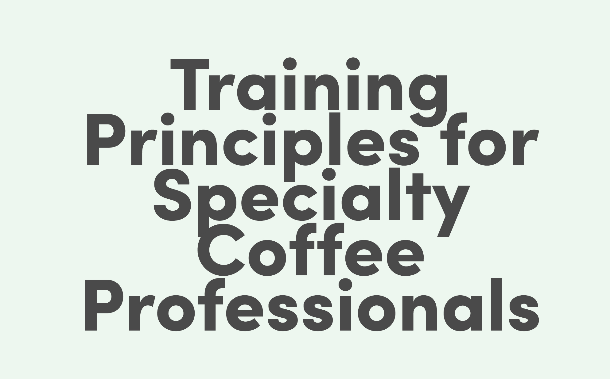 Coffee Consultant Anne F. Nylander Releases 'Training Principles' Book