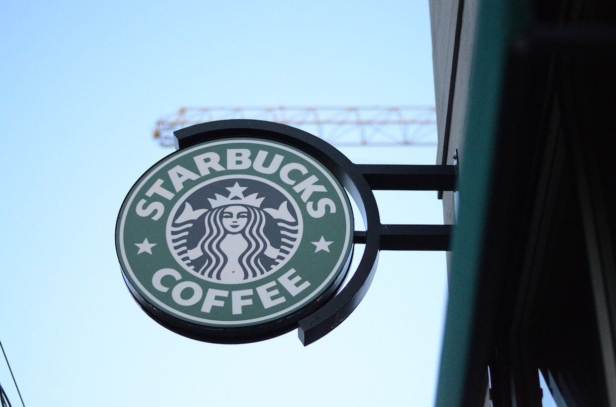 starbucks logo sign