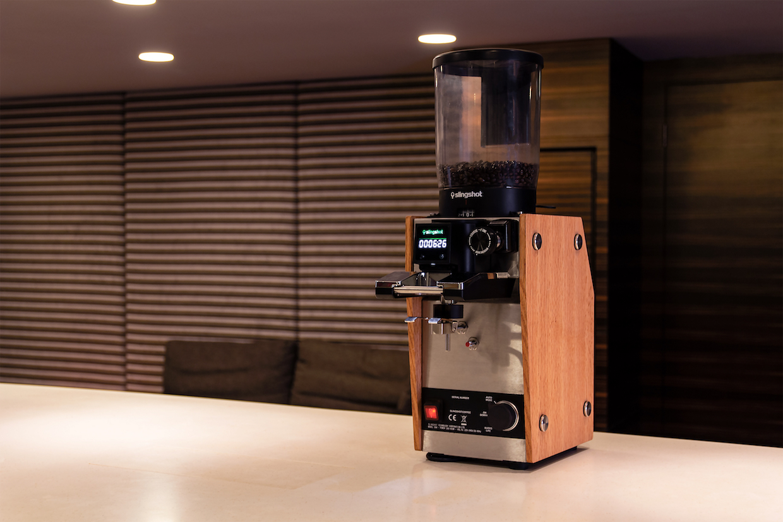 Slingshot coffee grinder