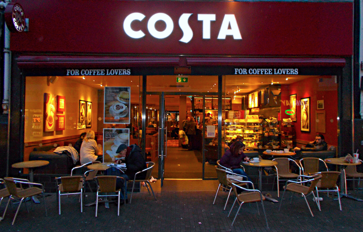 costa coffee shop uk
