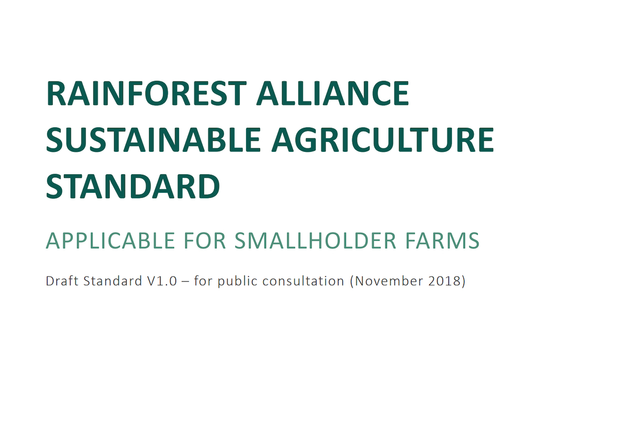rainforest alliance standard