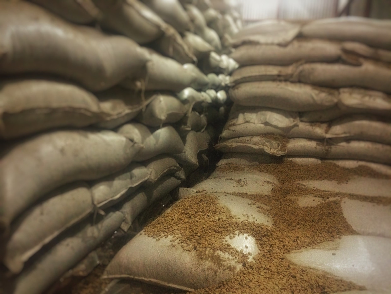coffee in warehouse