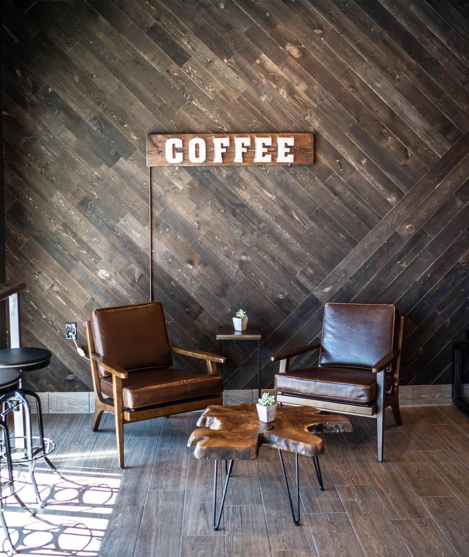 Dark Moon Coffee inside
