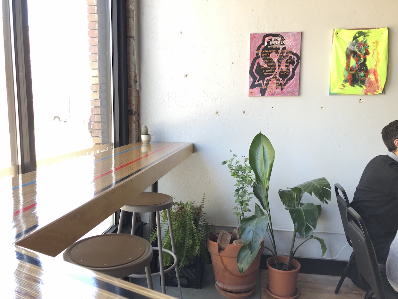 Velodrome bar and art