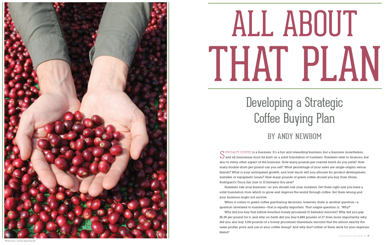 All About that Plan: Developing a Strategic Coffee Buying Plan