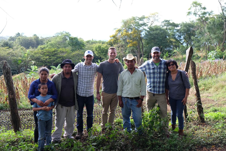 Mike Weaver, Mike Vehar and Chris Dollries at Santa Elena, Honduras
