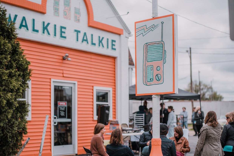 Walkie Talkie customers outside