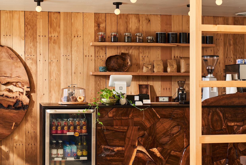 wood coffee bar