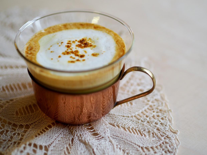 pumpkin coffee latte