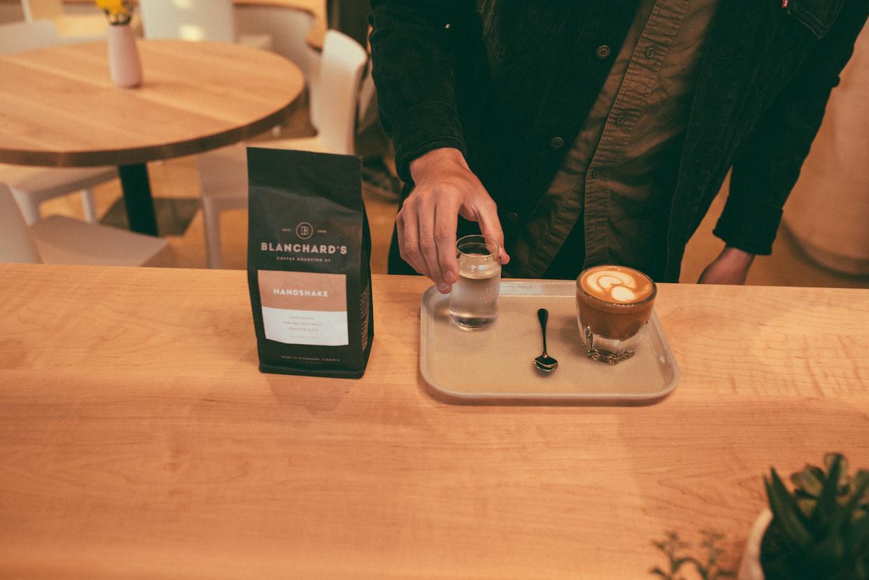 Blanchard's Coffee latte