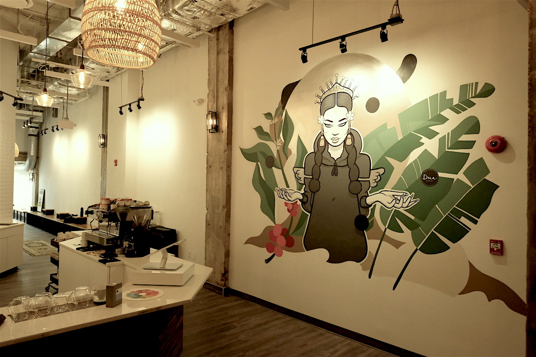 Dua Coffee Mural
