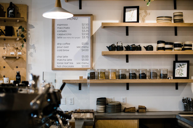 Aldea Coffee menu