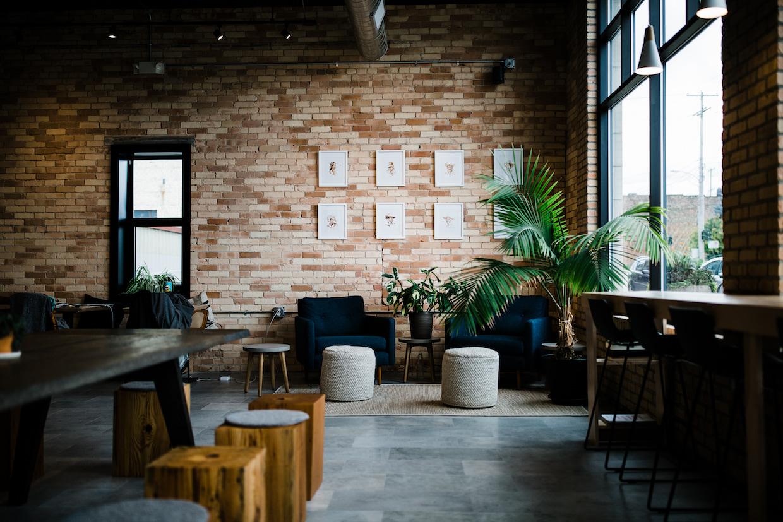 coffee shop wall