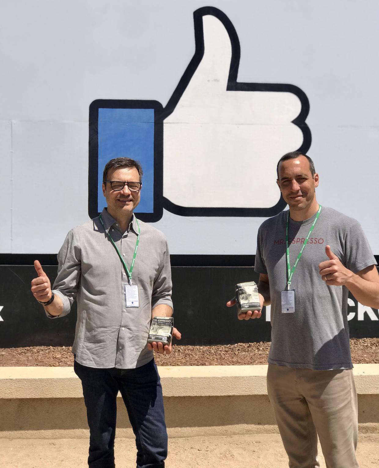Mr. Espresso at Facebook coffee