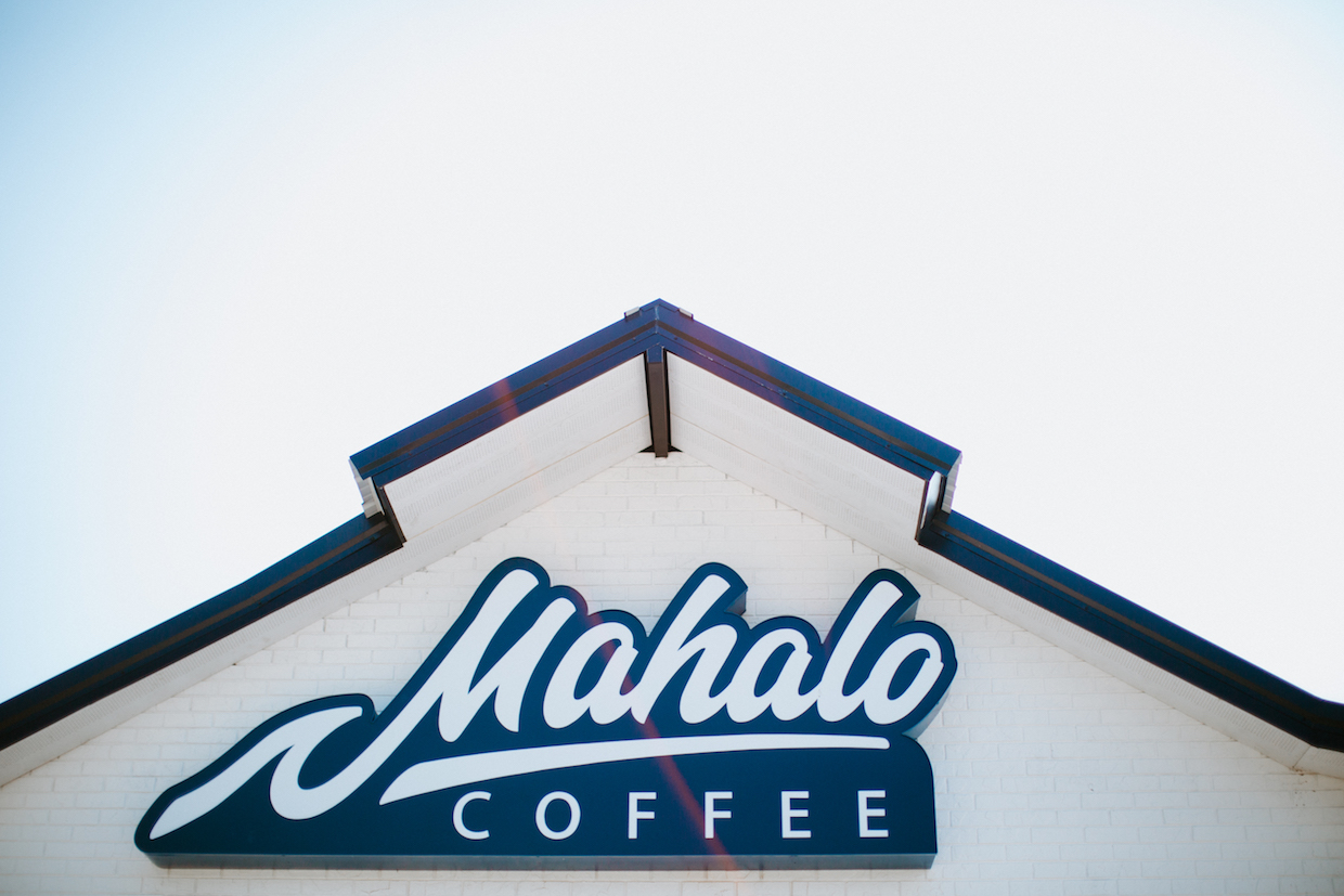 Mahalo Coffee outside