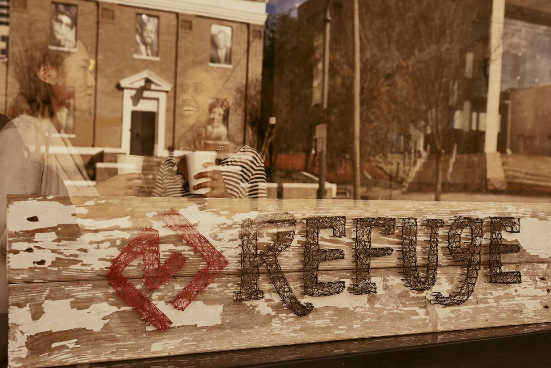 Refuge Coffee outside