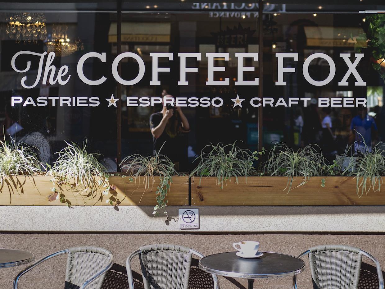 The Coffee Fox window –