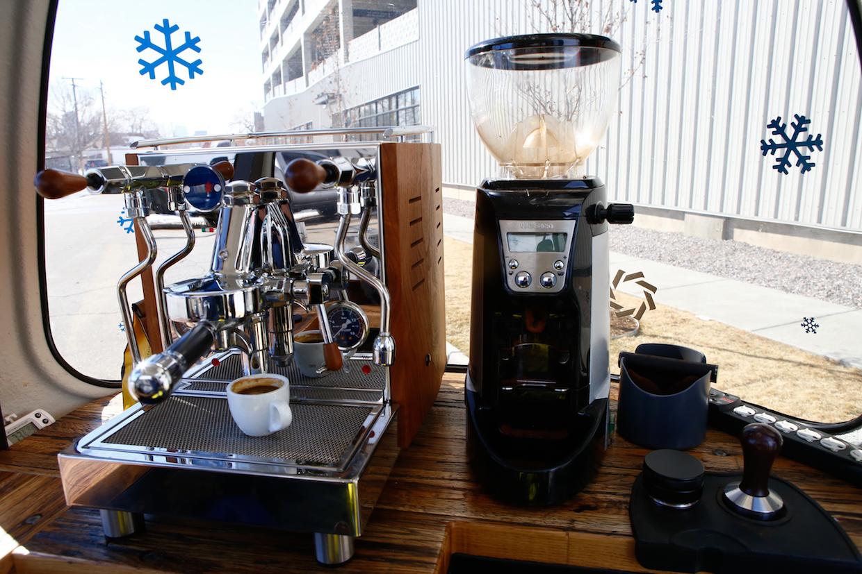 mobile espresso and grinder