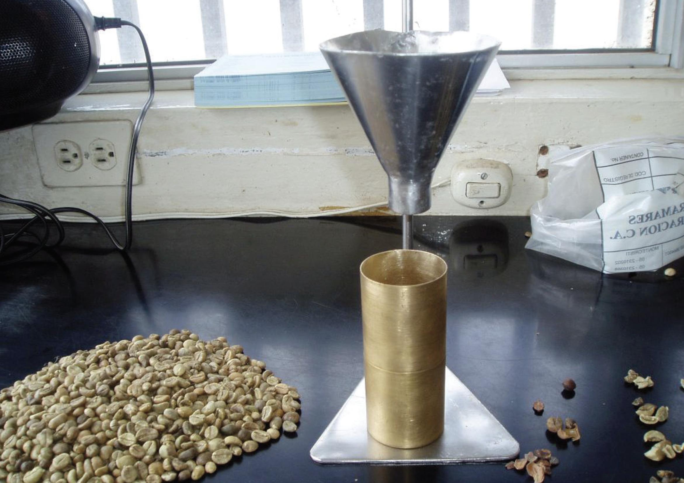 Testing coffee density