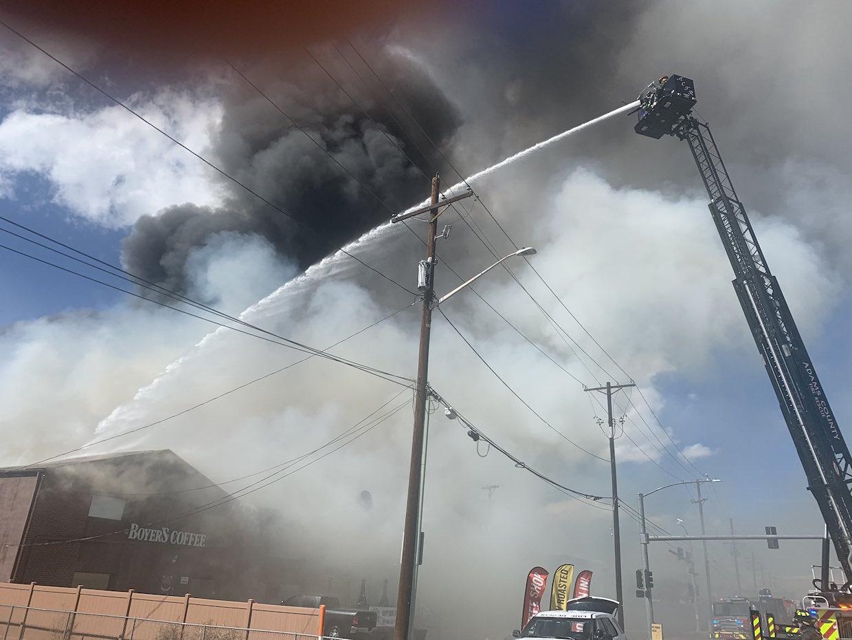 Boyer's Coffee fire