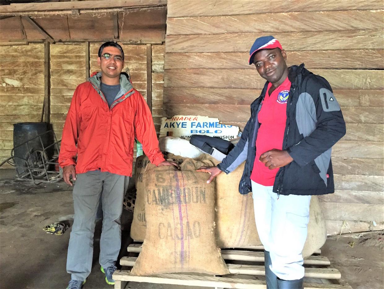 Ishan Tigunait with Moka Origins Farm Manager, Ngong Edwin