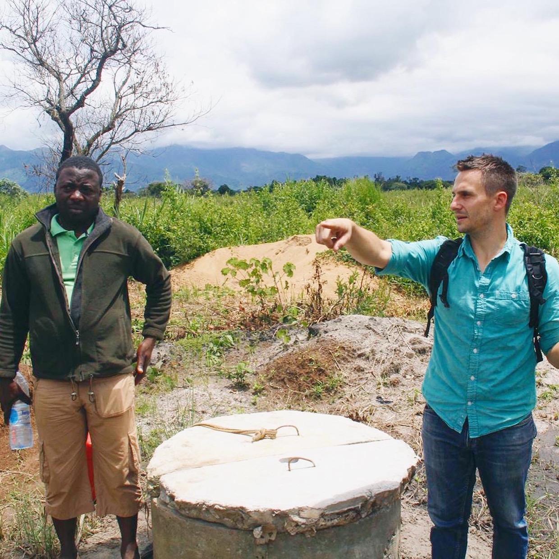 Jeff Abella and Moka Origins Farm Manager, Ngong Edwin
