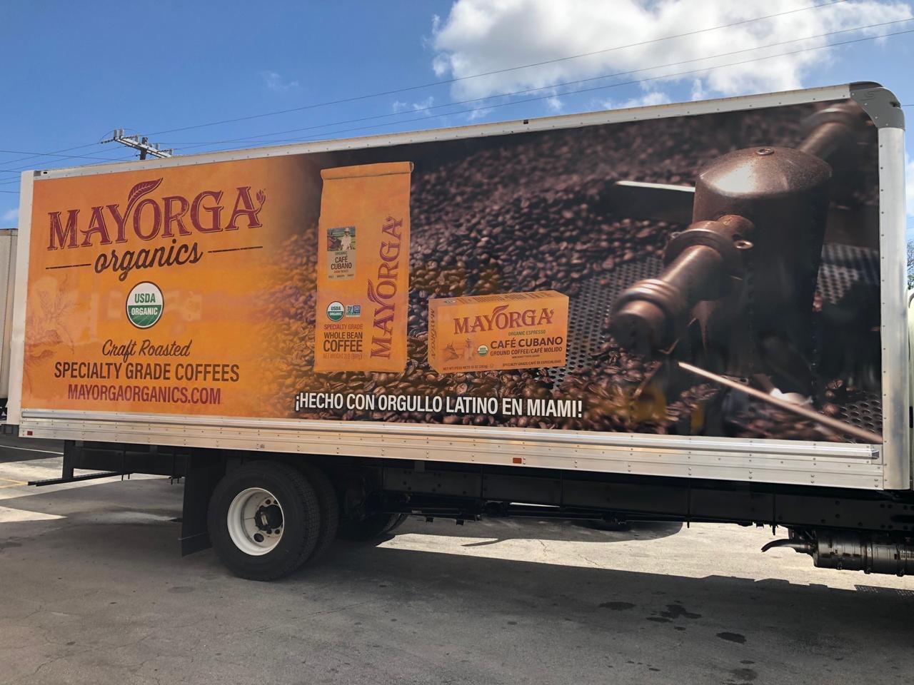 Mayorga Organics coffee truck delivery