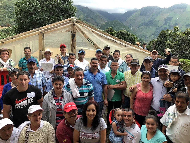 Colombia El Jordan coffee farmers
