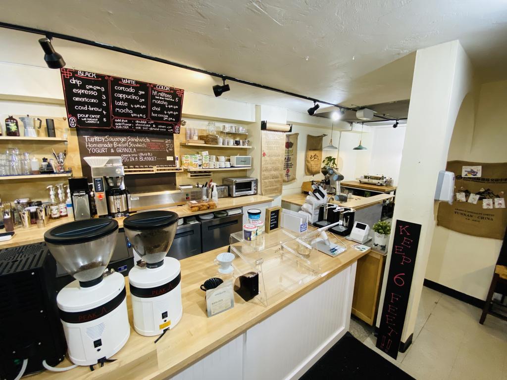 In J Coffee inside